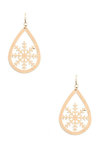 Snowflake Teardrop Earrings