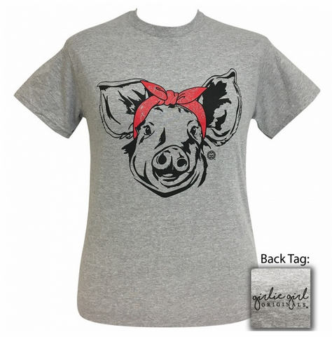 LAST CALL - Pig in Bandana Tee - YOUTH SMALL