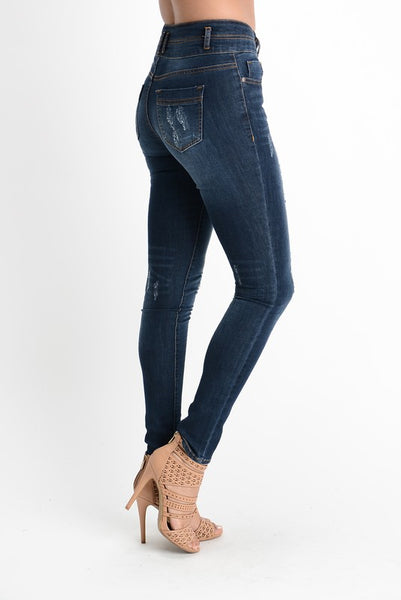 Higher Waist Distressed Jeans