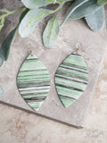 Gilded Greens Serape Earrings