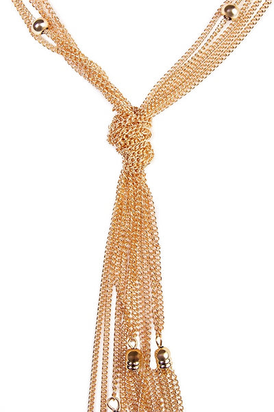 Beaded Chain Y Necklace