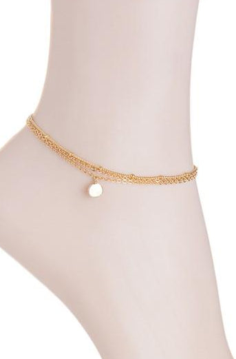 Dainty Disc Charm Anklet