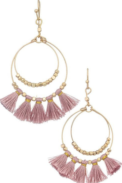 Tassels and Hoops Earrings