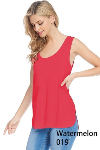 Piko High Low Tank - Watermelon - M