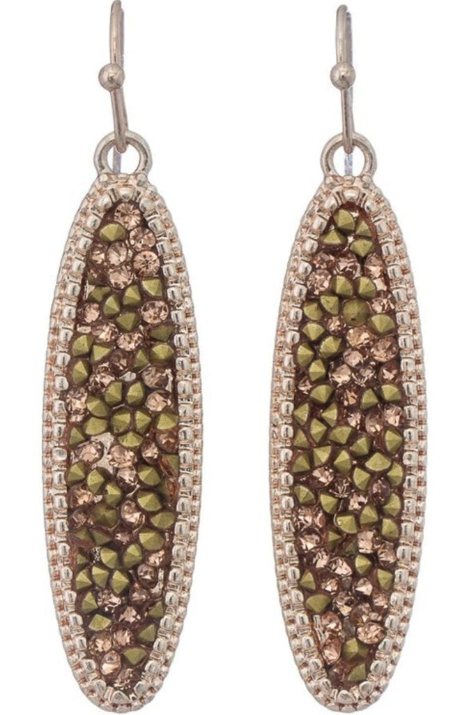 Sparkle Oval Earrings