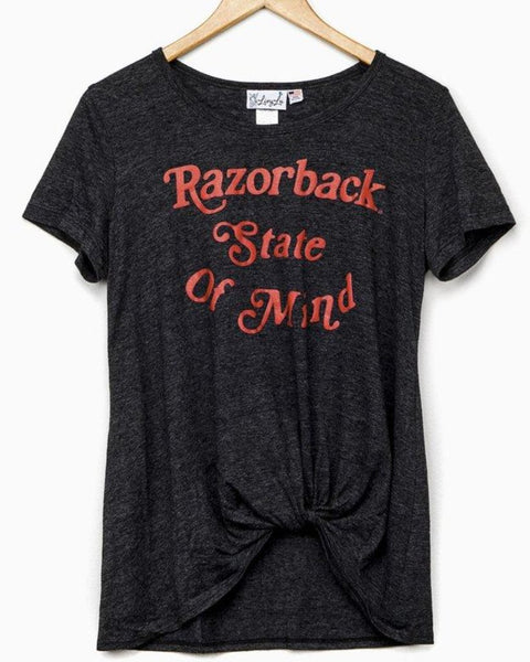 Razorback State of Mind Twist Front Top