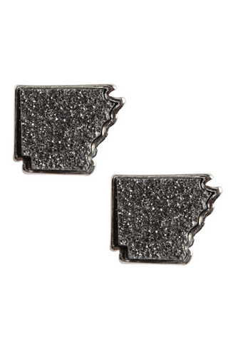 Arkansas Druzy Stud Earrings