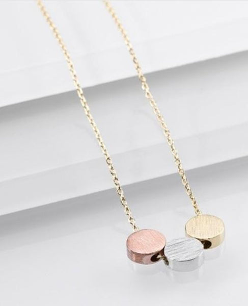 Tri Color Circles Necklace