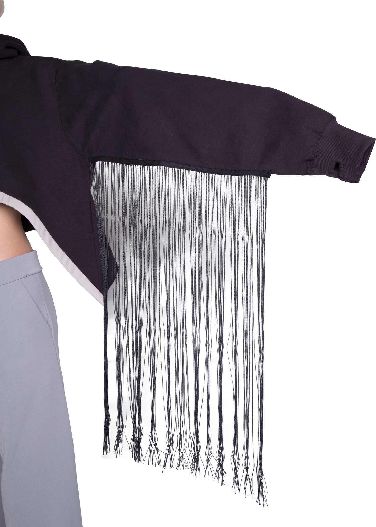 The Cropped, Fringed Hoodie