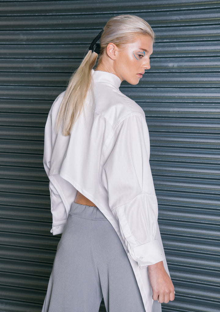 The Oversized Backless Shirt