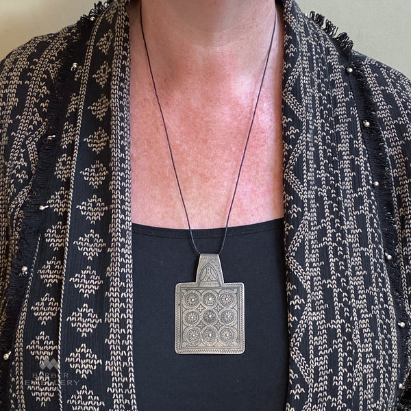 Vintage silver pendant from Ida ou Nadif, Morocco