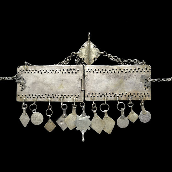 Antique silver tribal headpiece from Morocco