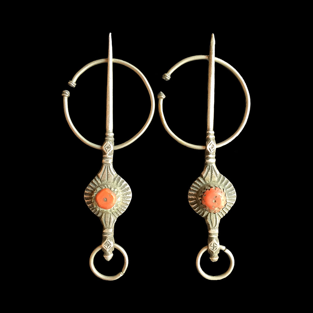Pair of vintage fibulae from Aït Semmeg, Morocco