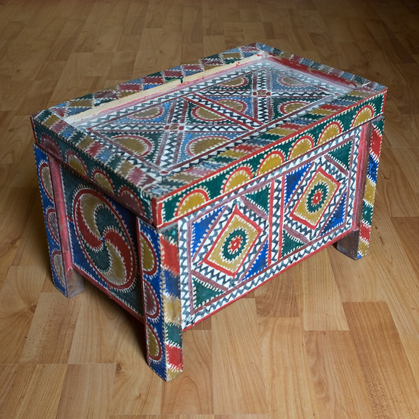 Ait Ouaouzgite Painted Wooden Chest