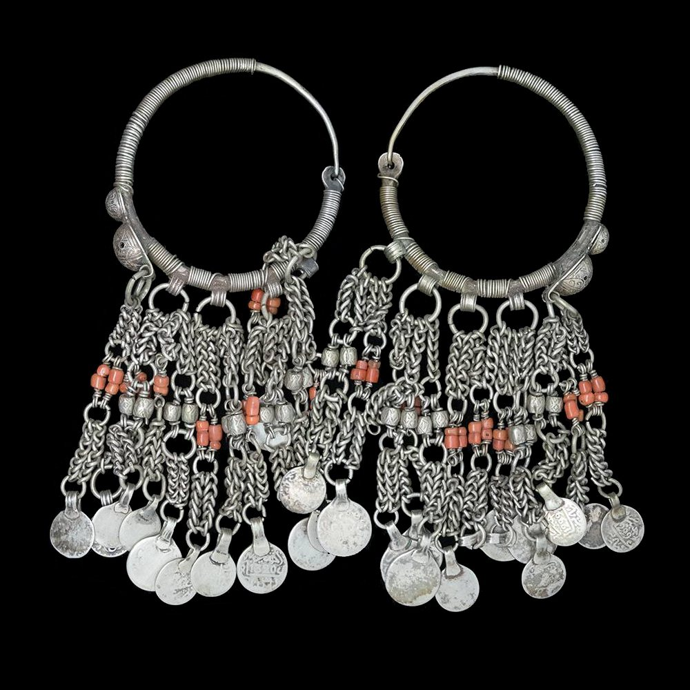 Antique silver earrings from the Middle Atlas