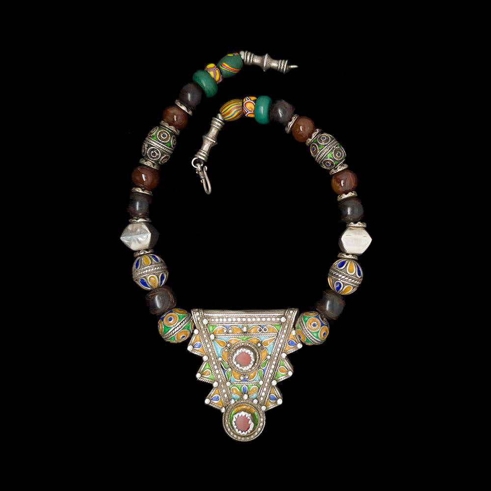 Berber necklace with amulet pendant from Morocco
