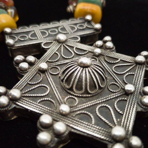 Berber necklace with Southern Cross