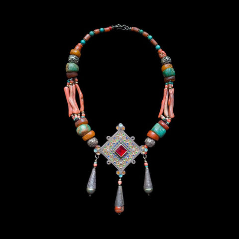 Berber necklace with hirz from Morocco