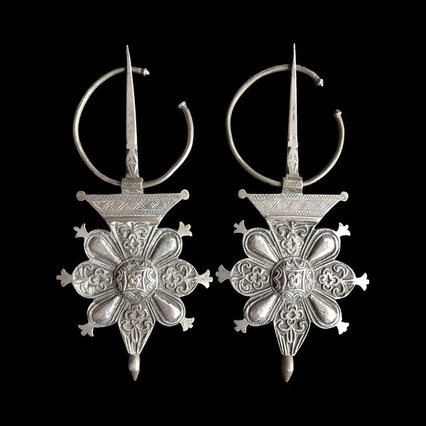 Pair of vintage fibulae from the Souss valley, Morocco
