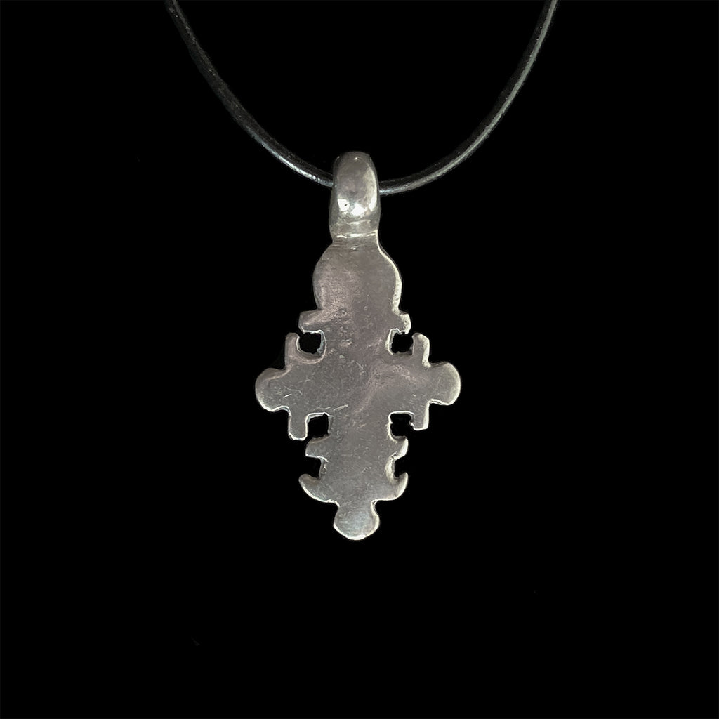 Vintage silver cross pendant from Ethiopia