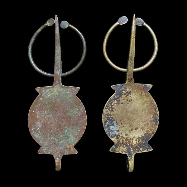 Pair of vintage fibulae from the region of Ida ou Semlal, Morocco
