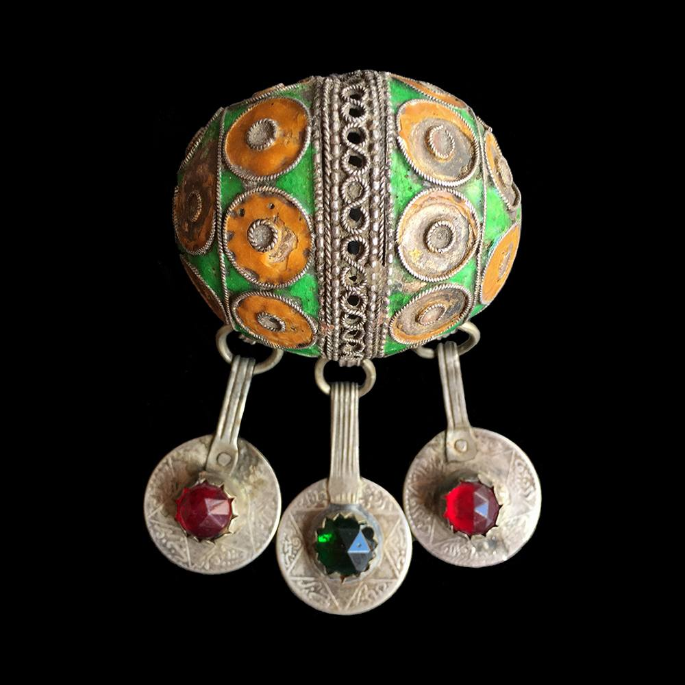 Antique silver enamelled Tagmout from Ida ou Semlal