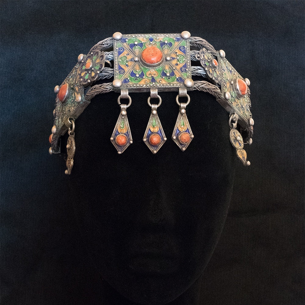 Vintage headdress from Kabylie