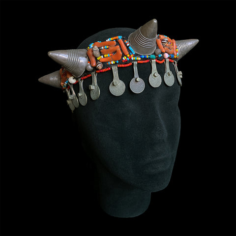 Rare tribal headpiece from Ait Baamrane, Morocco