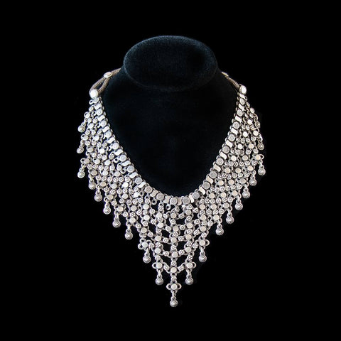 Vintage tribal silver necklace from Rajasthan