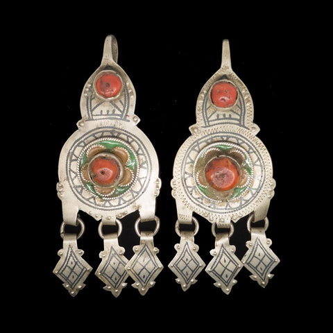 Vintage silver earrings from Tiznit