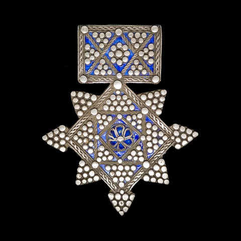 Silver and enamel boghdad from Tiznit