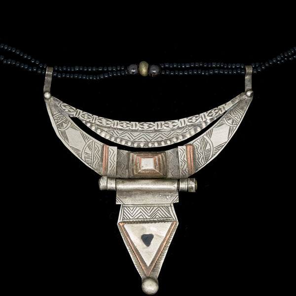 Silver Tuareg hinged necklace