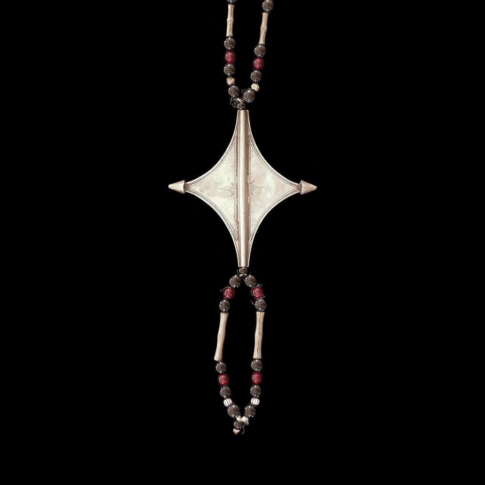 Vintage Tuareg 'Egourou' cross necklace from Niger
