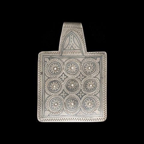 Vintage Berber silver pendant from Ida Ou Nadif