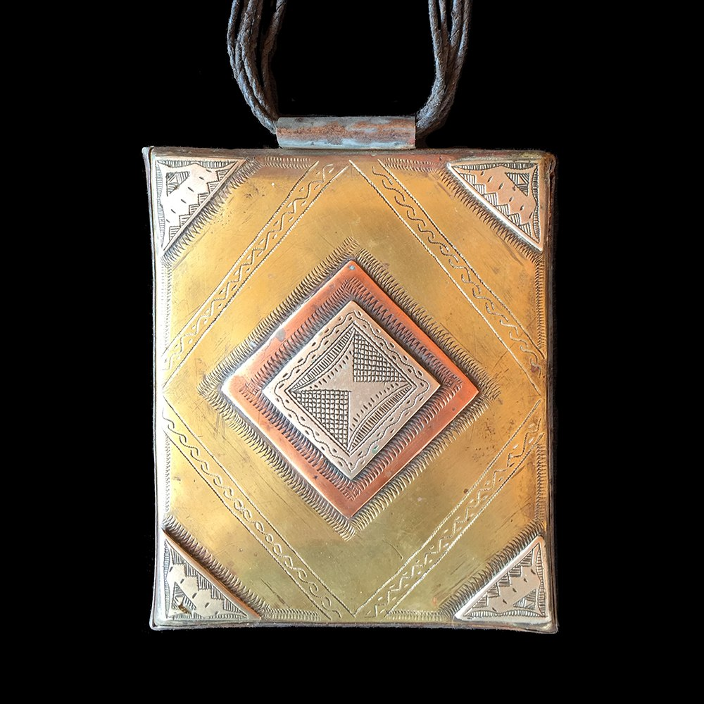 Vintage Tuareg silver, copper and brass Tcherot