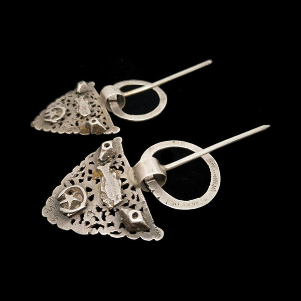 Pair of vintage silver fibulae from Tunisia