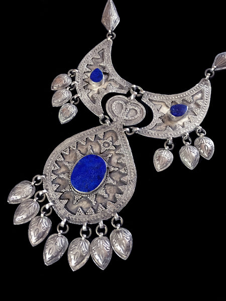 Vintage silver necklace from Turkmenistan