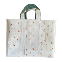 Ditsy Floral Painted Tote