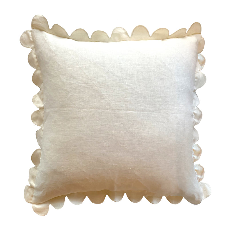 Ivory Scalloped Pillow