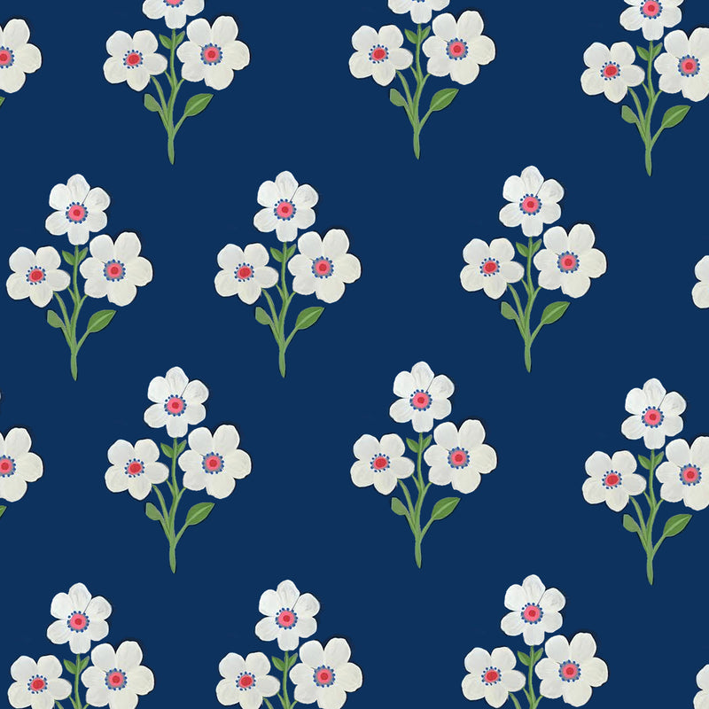 Jaipur Flowers Navy
