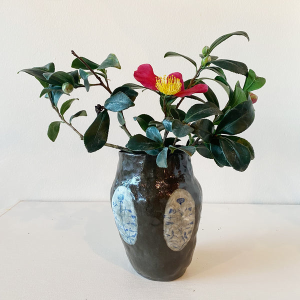 Kentucky Brown Hand-painted Vase