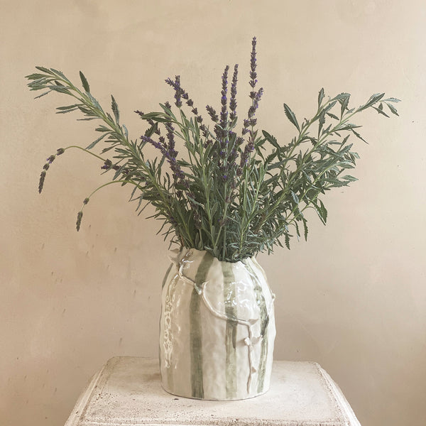 TENDRIL STRIPE VASE