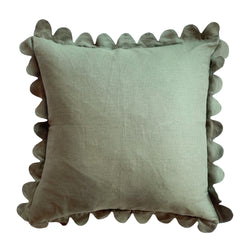 Thyme Scalloped Pillow