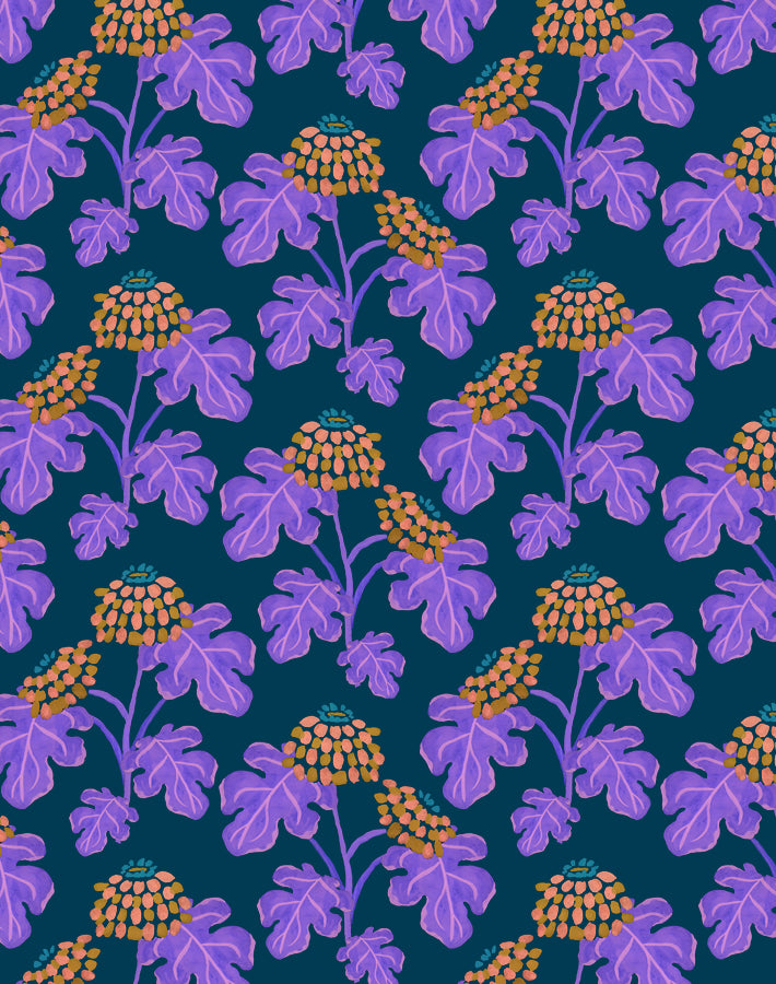 Casia Flowers Navy