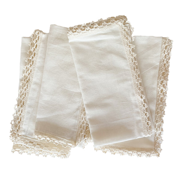 Crochet Trim Napkins