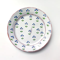 Blue Wildflower Dinner Plate - Vintage