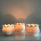 Lily of the Valley Marble Candle Votives - Set of 3
