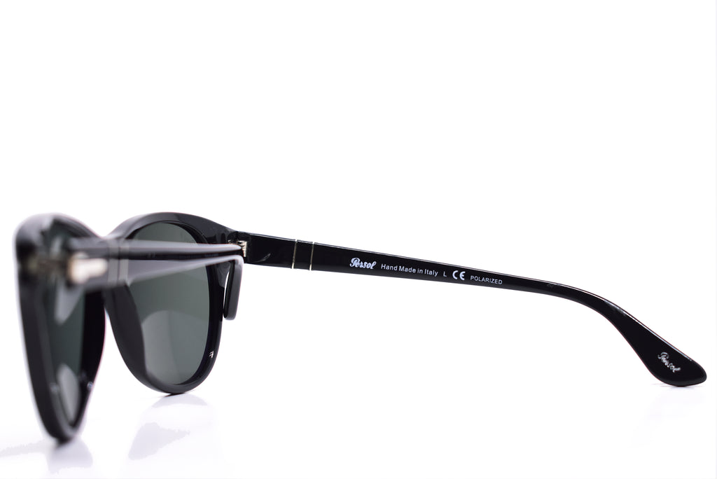PERSOL Black Polarized Sunglasses