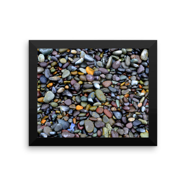 Lima Coastal Pebbles, Framed Art, - Explore Dream Discover