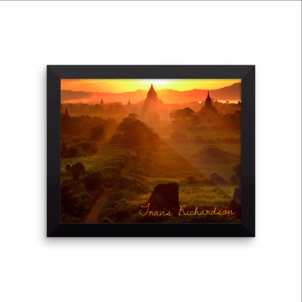 Bagan Sunset, Framed Art, - Explore Dream Discover